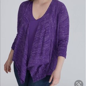 Lane Bryant Purple Sweater, Cami and Necklace